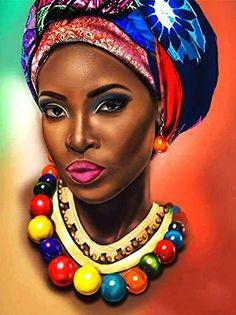 Black Girl Art, Black Women Art, Abstract Canvas, Oil Painting On Canvas, Painting Abstract, Poster Color Painting, Poster Colour, Arte Black, Afrique Art