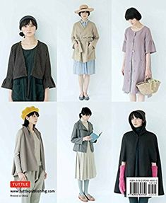 Stylish Wraps Sewing Book: Ponchos, Capes, Coats and More - Fashionable Warmers that are Easy to Sew: Yoshiko Tsukiori: 9780804846950: Amazon.com: Books