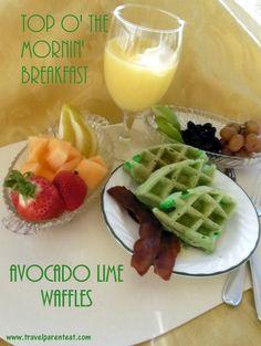 St. Patrick's Day Breakfast-Avocado Lime Waffles