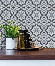 cuisine salle de bains carrelage stickers vinyle autocollant marrakech gris par snazzydecals sur etsy https - Stickers Tuile Vinyle Salle De Bain