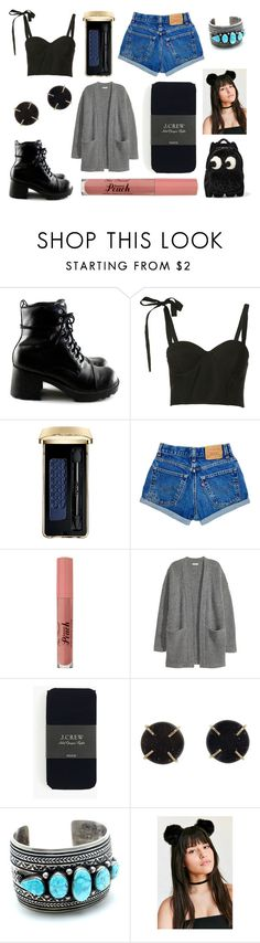 """Bus trip back from the ball"" by hailey-smith-13 ❤ liked on Polyvore featuring Rosie Assoulin, Guerlain, Kofta, J.Crew, Melissa Joy Manning and Anya Hindmarch"