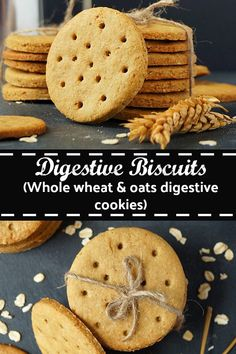 Digestive Biscuits Whole wheat oats digestive cookies digestives digestivebiscuits cookie oats wheat baking eggless aromaticessence Oat Cookies, Biscuit Recipe, Cookies Et Biscuits, Whole Wheat Cookies, Whole Wheat Biscuits, Digestive Cookies, Digestive Biscuits, Eggless Biscuits, Recipes