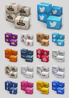 Container Icon Set V4 by Mehmet Gozetlik, via Behance
