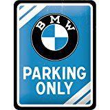 Nostalgic-Art 26177 BMW Parking Only, blau