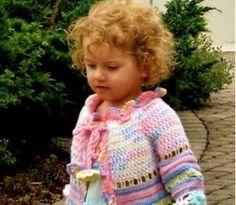 Crochet Girls Coat Is a Colourful Free Pattern