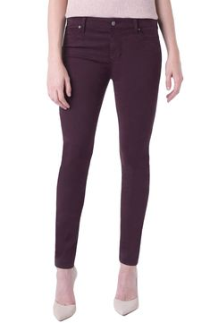 c34023cc99a038 Liverpool Abby Stretch Cotton Blend Skinny Pants available at #Nordstrom  Skinny Pants, Business Casual