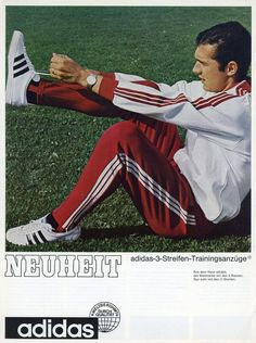 Franz Beckenbauer's tracksuit was the first ever piece of apparel from adidas.