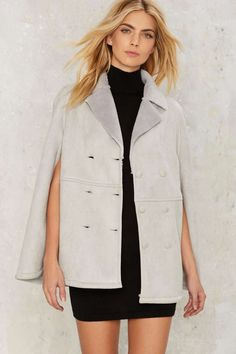 Chase Shearling Cape - Clothes   Blazers + Capes   Faux Fur
