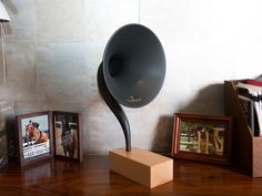 The Gramovox is a modern speaker system retrofitted with sound