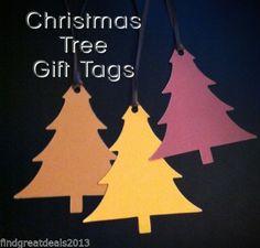 6 Christmas Tree Gift Tags Textured Cardstock Holiday Hang Tags Lot No 2 | eBay #gift_tags #christmastrees #hangtags #cardstock #holidaytags #crafts #scrapbooking #depotdeals #ebaystore
