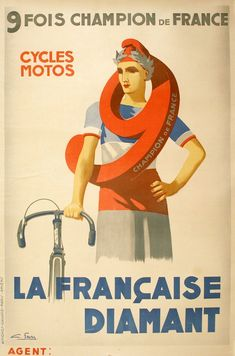 Buy online, view images and see past prices for Original Cycling Poster La Francaise Diamant by Favre Bicycle Moto Invaluable is the world's largest marketplace for art, antiques, and collectibles. Paris France, France Map, Bike Poster, Motorcycle Posters, Bicycle Brands, Vintage Cycles, Original Vintage, Best Commercials, Bicycle Race