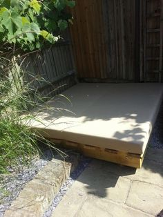 Foam Cut To Size For A Garden Project. #gardenseatingarea,  #outdoorcushions, #