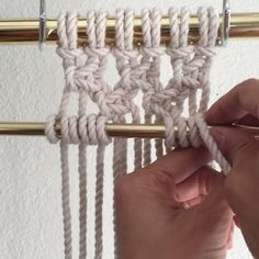 How to Add a Bar to Your Macrame Artwork// This video will show you how to add a bar anywhere in your work.  The surprise is that it's simply done using Horizontal Clove Hitches, but using a bar as filler instead of rope. This video shows them done with  6 cords which were attached to the bar using a Larks Head Knot. The cords were folded in half and attached, there are now 12 cords. I tied two rows of Alternating Square Knots which I've previously shown how to complete in another Friday…