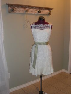 """this dress was remade from the bride's mother's wedding gown.... for the rehearsal or """"going away"""" dress"""