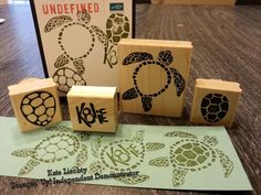 Turtle stamps carved with Undefined Stamp Carving Kit