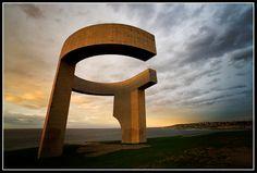 Elogio del Horizonte, Eduardo Chillida (1989) en Gijón (Asturias). Miguel Prado Fotógrafo Gijón. Paisajes, Urbanas. #Spain