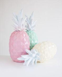 ananas déco pastels