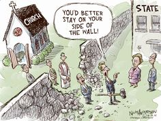 Separation of church and state. By Nick Anderson, 10-14-14 Houston Chronicle.
