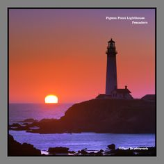 Pigeon Point Lighthouse Pescadero sunset moment by David Yu, via 500px