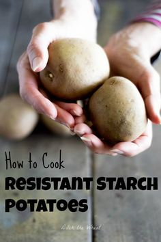 How to Cook Resistant Starch Potatoes. Interesting article in the post about what it is. potato al horno asadas fritas recetas diet diet plan diet recipes recipes Resistant Starch Foods, Potato Diet, Baking Cookbooks, Starch Solution, Baking Basics, How To Cook Potatoes, Healthy Muffins, Learn To Cook, Everyday Food