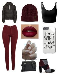 """""""Untitled"""" by littlemunchkin07 ❤ liked on Polyvore featuring AG Adriano Goldschmied, Doublju, Topshop, Roberto Festa, Kate Spade and Dr. Martens"""
