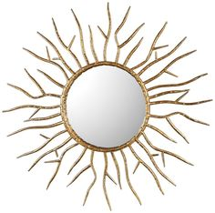 Hand Forged Iron Featuring A Hammered Surface, Finished In A Lightly Antiqued Gold Leaf.Designer: Jim Parsons Shape: Starburst Product Dimension: 28 W x 28 H x D Inches Product Weight: lb Brand: Uttermost Item: 9187 Collection: Astor Gold Starburst Mirror, Sunburst Mirror, Round Wall Mirror, Diy Mirror, Round Mirrors, Convex Mirror, Transitional Wall Mirrors, Uttermost Mirrors, Gold Diy