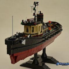 Your First Funnel Lego Boat, Lego Ship, Amazing Lego Creations, Lego Builder, Cool Lego, Awesome Lego, Lego Modular, Lego Worlds, Lego Photography