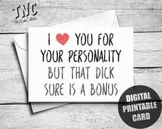 Naughty Valentines Day Card For Him, Printable, Dirty Boyfriend Birthday Card, Sexy Anniversary Card Husband, Funny I Love You Card, Adult
