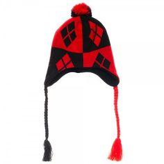 Buy Harley Quinn Diamonds Logo Laplander Beanie Knit Hat Cap at Walmart.com