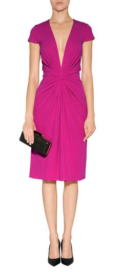A stunning pink hue and a figure-hugging drape add instant appeal to this versatile stunner from Issa #Stylebop