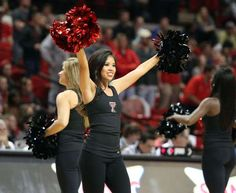A Texas Tech Red Raiders cheerleader entertains the crowd during the game with the Auburn Tigers at ... - Michael C. Johnson/USA TODAY Sports