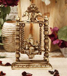 Brass Ganesha on Jhula