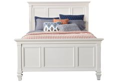 Belmar White 3 Pc Queen Panel Bed from  Furniture