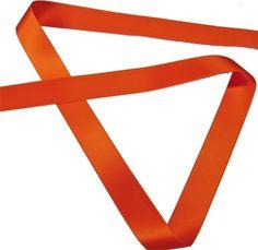 Satijnen lint oranje - Satijnband effen - voordelig kopen in de online shop / stoffenwinkel   Stoffen-Hemmers.be