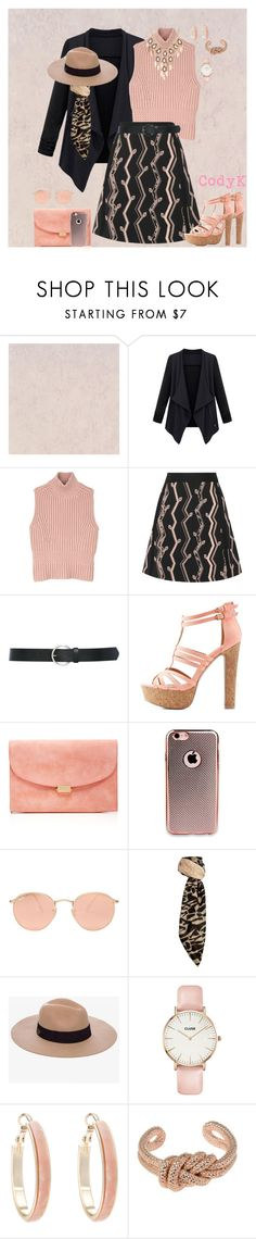 """""""Black & Dusty Rose"""" by cody-k ❤ liked on Polyvore featuring Diesel Black Gold, 3.1 Phillip Lim, M&Co, Charlotte Russe, Mansur Gavriel, Ray-Ban, Linea, Anine Bing, CLUSE and Oasis"""