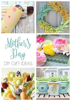 When it comes to a thoughtful gift for mom this May, consider making one of these Mother's Day DIY gift ideas from our featured link party bloggers. You don't need a lot of money, time, or experience to create these one of a kind crafts and we are confident that your mama will love it. Can't you just picture her smile when she sees your gift? We certainly can!