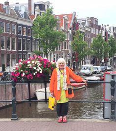 Gudrun Sjoden in Amsterdam's Flower Market.