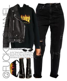 """Thrasher "" by fuckedchanel ❤ liked on Polyvore featuring ASOS, Chanel, Vetements and Acne Studios"