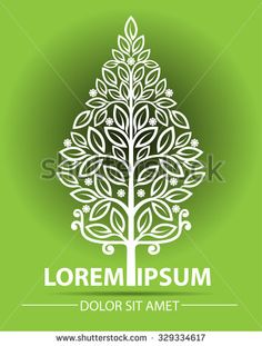 Abstract vector, shape towering trees such as spruce, or so-called tree of life. can be used as a symbol of culture, reforestation, and companies who care about the environment