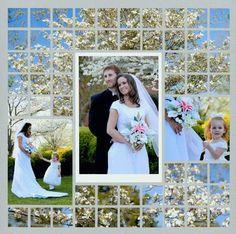 Spring Wedding Mosaic Layout