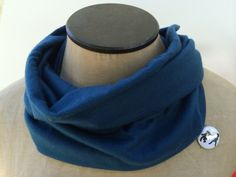 Dark Turquoise Cowl Scarf Neck Warmer Baby by ChickenandCharlie, $14.00