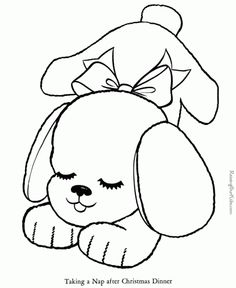 Dog Coloring Book Page