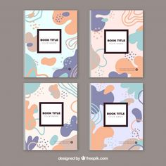 Colorful cover collection with bubble shapes Free Vector Web Design, Layout Design, Logo Design, Packaging Design Inspiration, Graphic Design Inspiration, Graphic Design Brochure, Buch Design, Name Design, Design Graphique