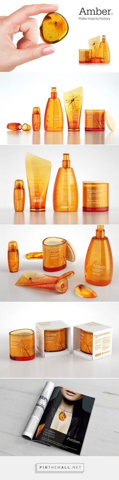 Amber Insect repellent #packaging designed by Tanya Chursina (Russia) - http://www.packagingoftheworld.com/2016/03/amber-student-project.html