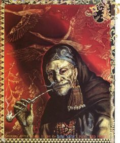 In Russian folklore there are many stories of Baba Yaga, the fearsome witch with iron teeth. She is also known as Baba Yaga Boney Legs, because, in spite of a ferocious appetite, she is as thin as a skeleton.