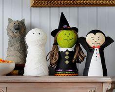 Adorable  #DIY Decor! Plaid Apple Barrel #Halloween Friends #acmoore