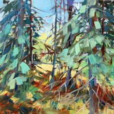 In The Galleries - The Art of Sheila Davis SCA OSA Abstract Landscape, Landscape Paintings, Landscapes, 2d Art, Galleries, Photo Art, Art Ideas, Pastel, Trees