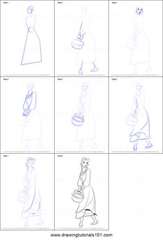 How to Draw Peasant Belle from Beauty and the Beast step by step printable drawing sheet to print. Learn How to Draw Peasant Belle from Beauty and the Beast Easy Disney Drawings, Disney Princess Drawings, Disney Sketches, Easy Drawings, Beauty And The Beast Drawing, Disney Beauty And The Beast, Arte Disney, Disney Art, Art Drawings Sketches