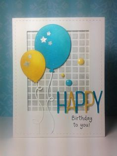 Balloon dies: Simon Says Stamp, #SSSFAVE, stencil,  by beesmom - Cards and Paper Crafts at Splitcoaststampers