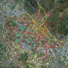Analisi di routing per la fornitura quotidiana delle mense scolastiche di Prato, Prato, 2014 - GeoInformatiX, Alberto Antinori